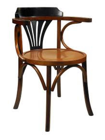 Authentic Models MF046Z Navy Chair, Black/Honey