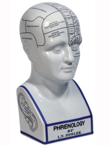 Authentic Models MG020 Phrenology Porcelain Head