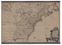 Giclée Wall Map North America from 1755 MC811
