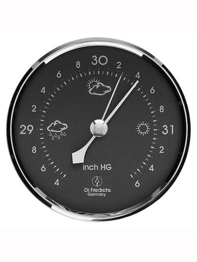 Precision Android Barometer 3.25 inch Round Gray Scale Hokco