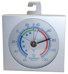 Standing Hanging Refrigerator Freezer Thermometer Aluminum Hokco