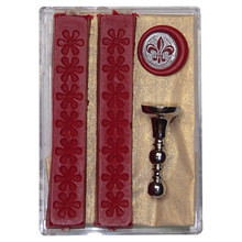 Sealing Wax Stamp Set 'Fleur de Lys'