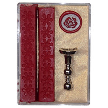 Sealing Wax Stamp Set 'Rose'