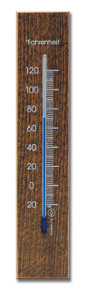 Analog Thermometer Beechwood Walnut Finish Hokco