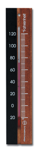 Analog Thermometer Beechwood Black Walnut Finish Hokco