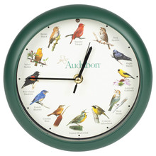 Audubon™ Singing Bird Clock 8 inch