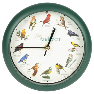 Audubon™ Singing Bird Clock 8 inch