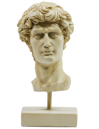 Head of David Bust by Authentic Models AR051 Front View