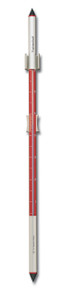 Analog Wall Thermometer Red Anodized Aluminum 34 inch tall by Hokco