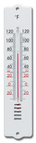 Analog Wall Thermometer White Plastic 8 inch by Hokco