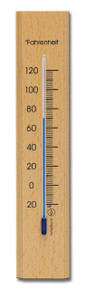 Analog Thermometer Beechwood Natural Finish Hokco