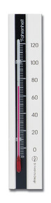 Analog Wall Thermometer Beech White-Black Finish 7.12 inch Hokco