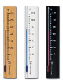 Wall Thermometer Beechwood Natural Black White Finish Hokco