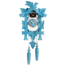Design Collection Quartz Cuckoo Clock, blue/white