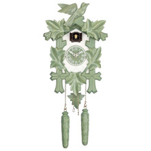 Design Collection Quartz Cuckoo Clock, green/white