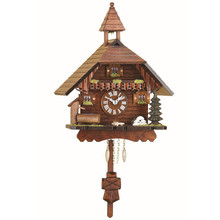 Quartz Pendulum Clock with Cuckoo Chime and Belltower