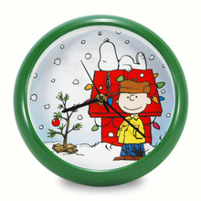 Peanuts Holiday Dog House 8 inch Sound Clock