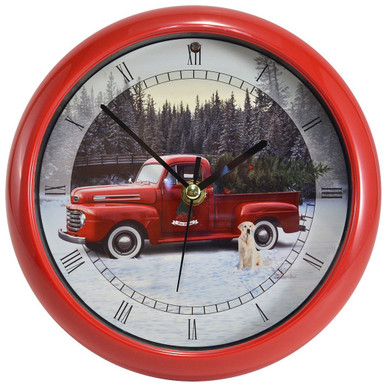 Ford F1 Holiday Pickup Truck 8 inch Sound Clock Version II