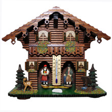 Weather House with Wooden Figures