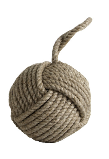 Monkey Fist Doorstop Sisal by Authentic Models HD002