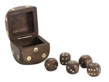 Dice Box With 5 Dices by Authentic Models GR030