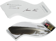 Wave Writing Set Feather White Authentic Models MG303