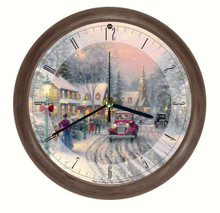 Thomas Kinkade Village Christmas Sound Clock Mark Feldstein XTK8VCB