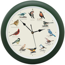 Original Singing Bird Clock Green 13 inch