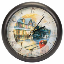 Thomas Kinkade All Aboard for Christmas Sound Clock