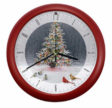 Christmas Tree Bird Gathering Sound Clock Licensed by Wild Wings