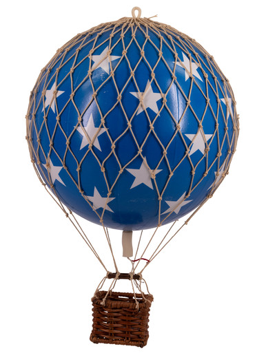 Authentic Models AP161BS Travels Light Helium Balloon Blue Stars