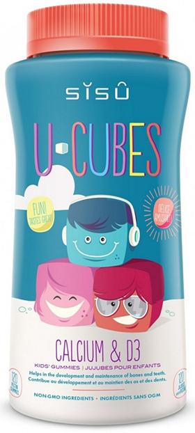 SISU U-Cubes Calcium & D3, 120 Gummies