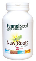 New Roots Fennel Seed 480 mg, 100 Capsules | NutriFarm.ca