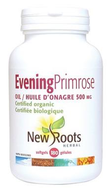 New Roots Evening Primrose Oil (Certified Organic)  500 mg, 180 Softgels | NutriFarm.ca