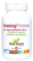 New Roots Evening Primrose Oil (Certified Organic) 1000 mg, 180 Softgels | NutriFarm.ca