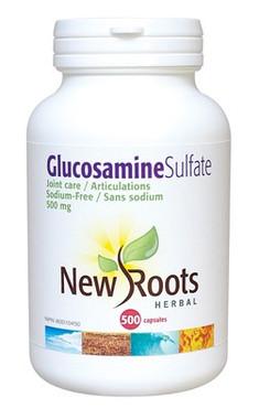 New Roots Glucosamine Sulfate 500 mg, 500 Capsules | NutriFarm.ca