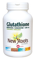 New Roots Glutathione (Reduced) 200 mg, 60 Capsules | NutriFarm.ca