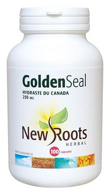 New Roots Golden Seal 250 mg, 100 Capsules | NutriFarm.ca