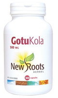 New Roots Gotu Kola 500 mg, 100 Capsules | NutriFarm.ca