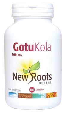 New Roots Gotu Kola 500 mg, 100 Capsules | NutriFarm.ca