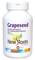 New Roots Grapeseed Extract 100 mg, 60 Capsules | NutriFarm.ca