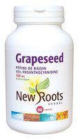 New Roots Grapeseed Extract 500 mg, 60 Capsules | NutriFarm.ca