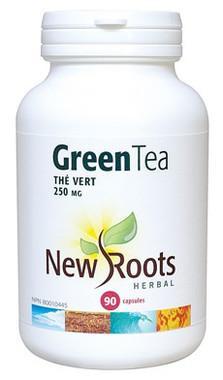 New Roots Green Tea 250 mg 50% polyphenols, 90 Capsules | NutriFarm.ca