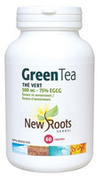 New Roots Green Tea 500 mg 75% EGCG, 60 Capsules | NutriFarm.ca