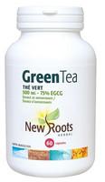 New Roots Green Tea 500 mg 75% EGCG, 60 Capsules | NutriFarm.ca
