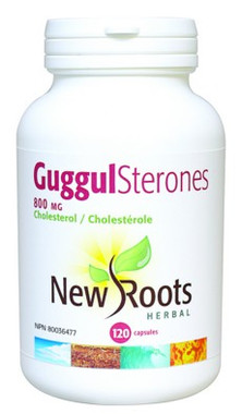 New Roots Guggul Sterones 625 mg, 120 Capsules | NutriFarm.ca
