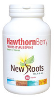 New Roots Hawthorn Berry 500 mg, 100 Capsules | NutriFarm.ca