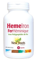New Roots Heme Iron 11 mg, 30 Capsules | NutriFarm.ca