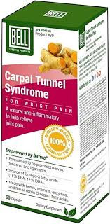 Bell Carpal Tunnel Syndrome, 60 Capsules   NutriFarm.ca