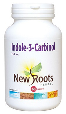 New Roots Indole-3-Carbinol 150 mg, 60 Capsules | NutriFarm.ca